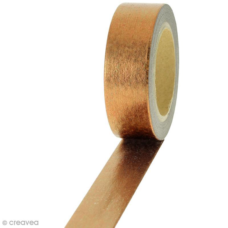 Masking tape Cuivré irisé - 1,5 cm x 10 m - Photo n°1
