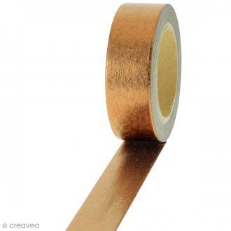 Masking tape Cuivré irisé - 1,5 cm x 10 m
