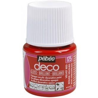 Peinture P.BO Déco 45 ml - brillant - Rouge velours