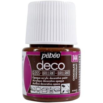 Peinture P.BO Déco 45 ml - brillant - Marron Chocolat