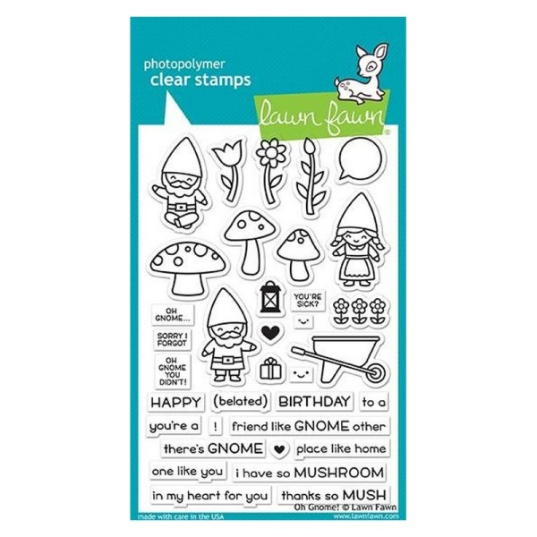 Tampon transparent Lawn Fawn - Oh gnome! - 35 pcs - Photo n°1