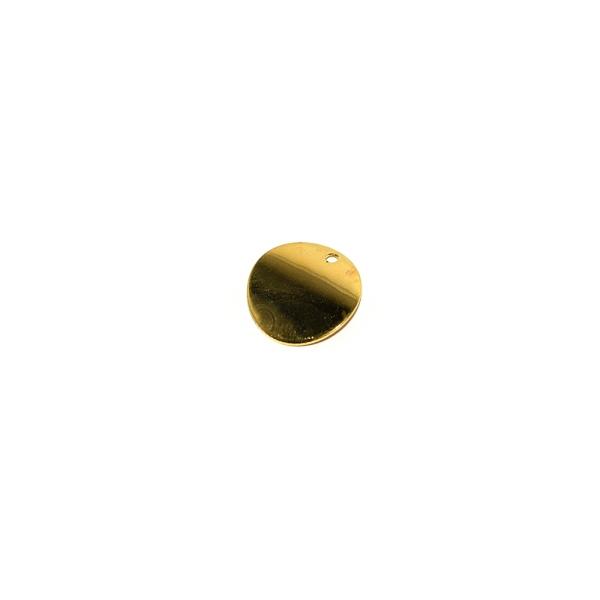 Sequin rond courbé doré 14 mm - Photo n°1
