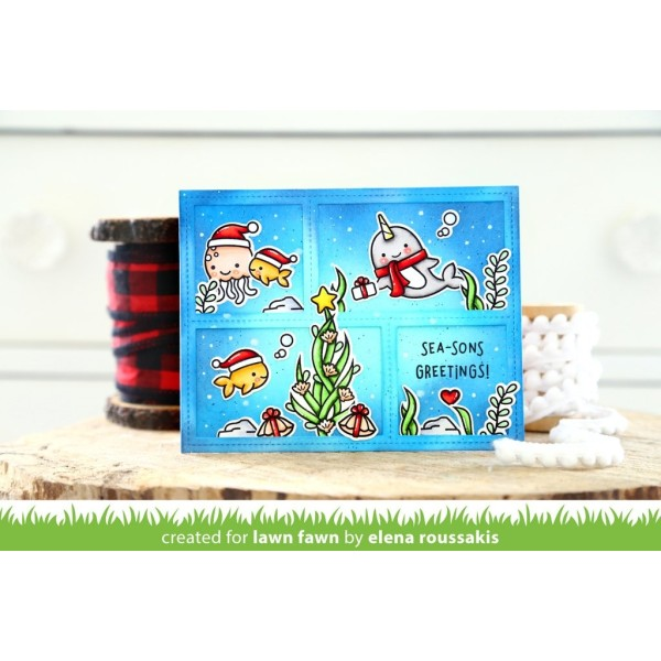 Tampon transparent Lawn Fawn - Winter Narwhal - 7 pcs - Photo n°2