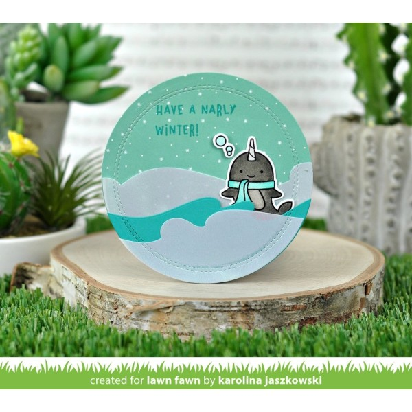 Tampon transparent Lawn Fawn - Winter Narwhal - 7 pcs - Photo n°3