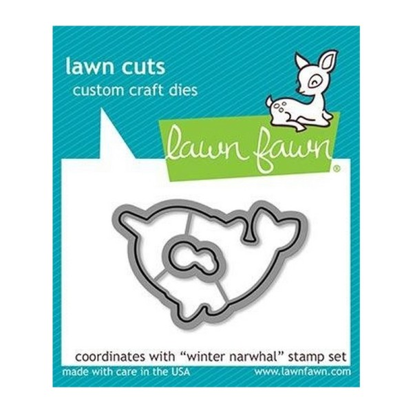Tampon transparent Lawn Fawn - Winter Narwhal - 7 pcs - Photo n°4