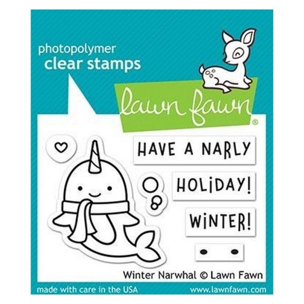 Tampon transparent Lawn Fawn - Winter Narwhal - 7 pcs - Photo n°1