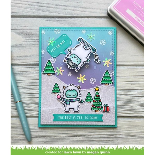 Tampon transparent Lawn Fawn - Yeti or Not - 38 pcs - Photo n°2