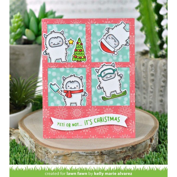 Tampon transparent Lawn Fawn - Yeti or Not - 38 pcs - Photo n°3