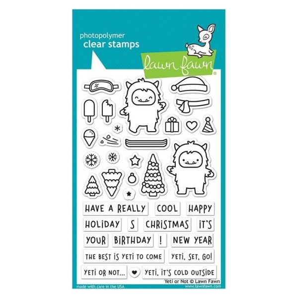 Tampon transparent Lawn Fawn - Yeti or Not - 38 pcs - Photo n°1