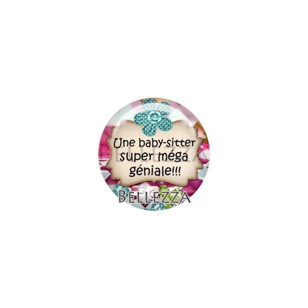 Cabochon, baby-sitter, enfant, plusieurs tailles disponibes - Photo n°1