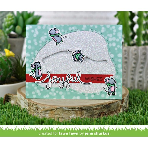 Tampon transparent Lawn Fawn - Mice on Ice - 24 pcs - Photo n°2
