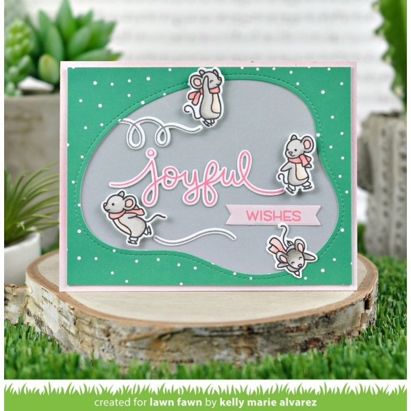 Tampon transparent Lawn Fawn - Mice on Ice - 24 pcs - Photo n°3