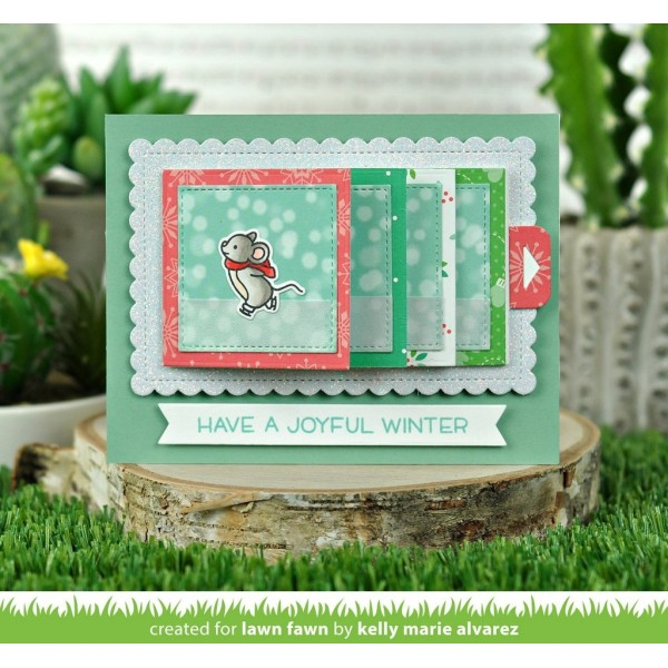 Tampon transparent Lawn Fawn - Mice on Ice - 24 pcs - Photo n°4