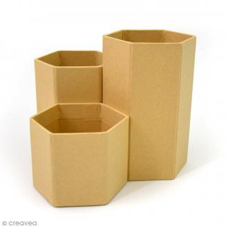 Pots à crayons en kraft - 5,5 à 11 cm - 3 pcs