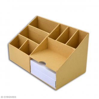 Organiseur de bureau - 8 compartiments - 21 x 12 cm
