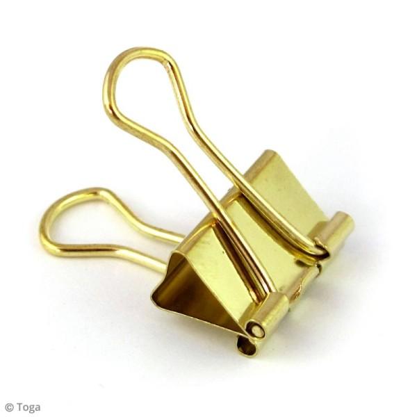Pinces clip 3,8 x 1,9 cm - Dorées - 6 pcs - Photo n°3