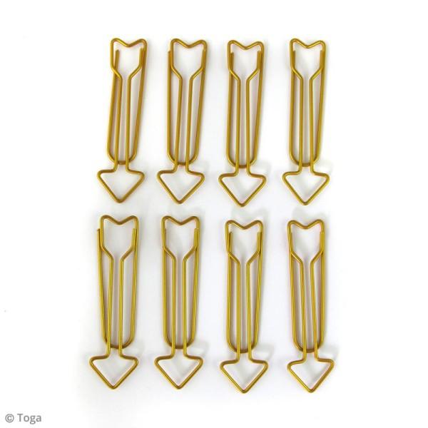 Maxi trombones 5,8 cm - Flèches dorées - 8 pcs - Photo n°2