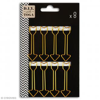Maxi trombones 5,8 cm - Flèches dorées - 8 pcs