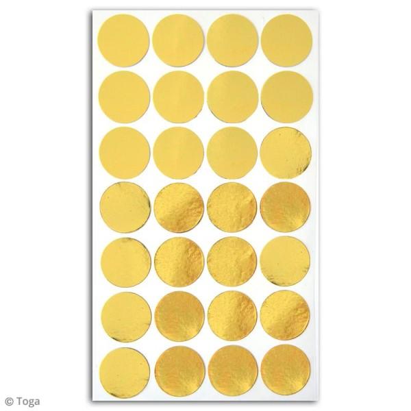 Stickers dorés - Confettis ronds - 28 pcs - Photo n°2