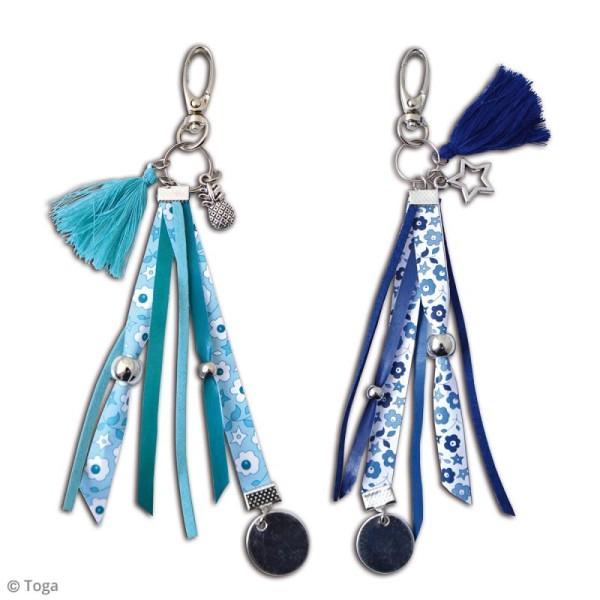 Kit créatif Gri-Gri Bleu Liberty - 2 modèles à reproduire - Photo n°2