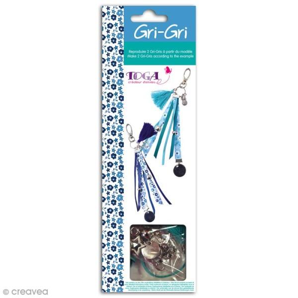 Kit créatif Gri-Gri Bleu Liberty - 2 modèles à reproduire - Photo n°1