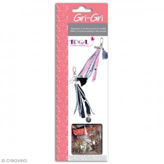 Kit créatif Gri-Gri Rose et gris à pois - 2 modèles à reproduire