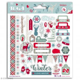 Stickers Toga Solstice d'hiver - 78 pcs