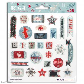 Stickers 3D Toga Solstice d'hiver - 28 pcs