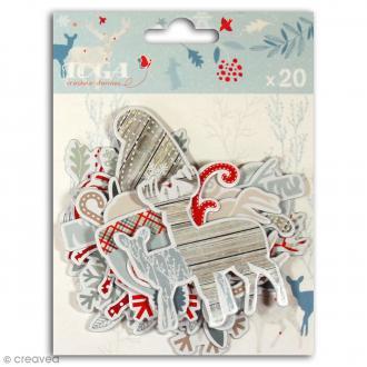 Chipboard Solstice d'hiver en carton - 20 formes