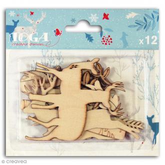 Assortiment de formes en bois - Solstice d'hiver - 12 pièces