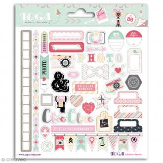Stickers Toga Clic Clac - 86 pcs