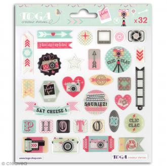 Stickers 3D Toga Clic Clac - 32 pcs