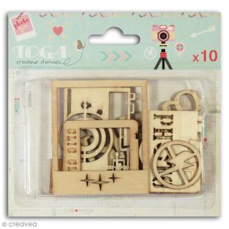 Assortiment de formes en bois - Clic Clac - 10 pièces