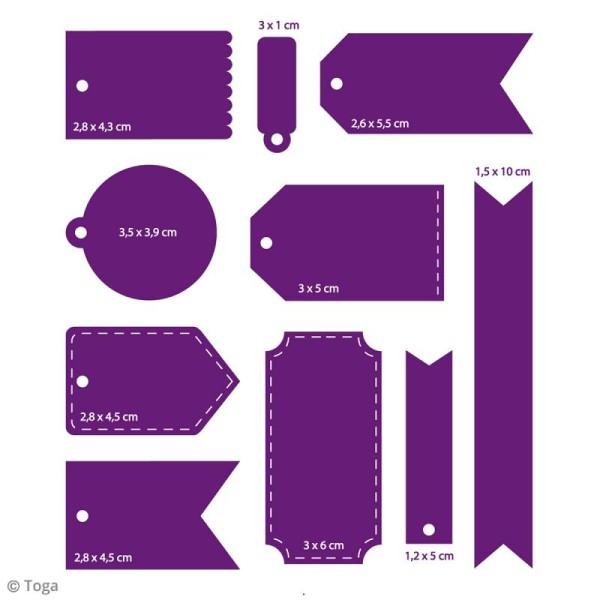 Dies Toga Cut It All - Mini tags - 10 matrices de découpe - Photo n°2