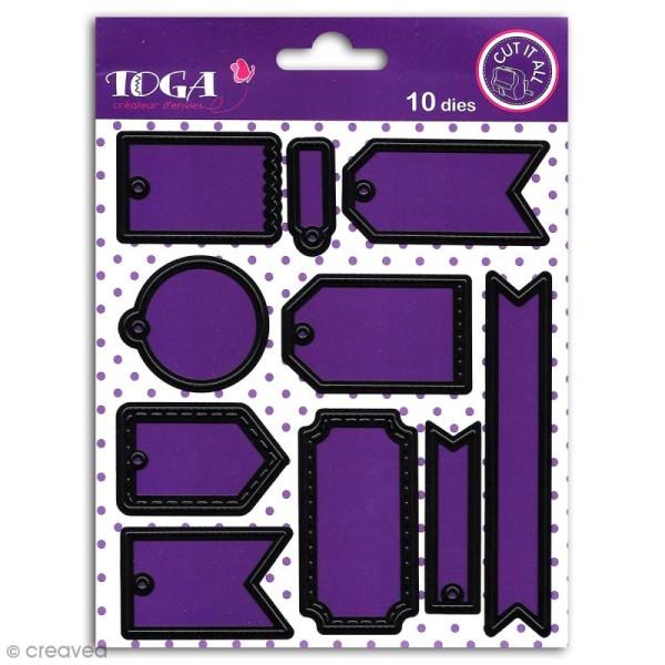 Dies Toga Cut It All - Mini tags - 10 matrices de découpe - Photo n°1
