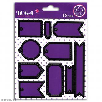 Dies Toga Cut It All - Mini tags - 10 matrices de découpe