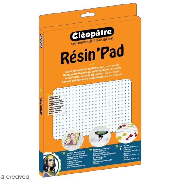 Resin'Pad - Plan de travail en silicone pour la résine - 30 x 20 cm - Photo n°1