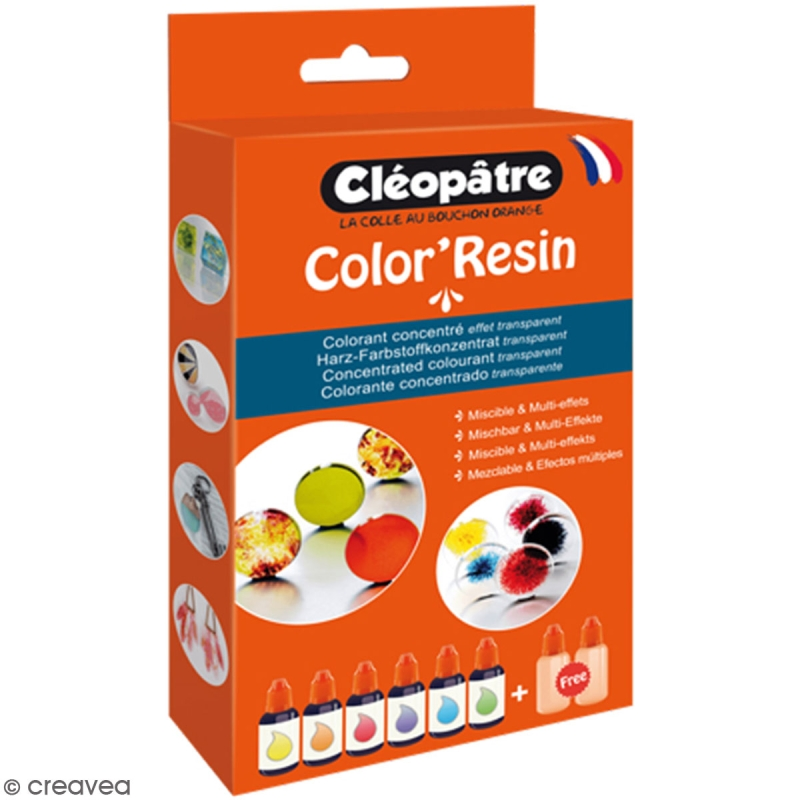 Lot de Color'Resin - Colorant concentré pour résine - 15 g - Photo n°1