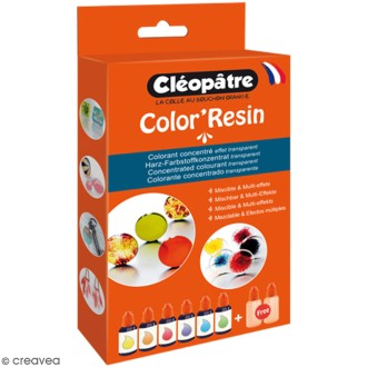 Lot de Color'Resin - Colorant concentré pour résine - 15 g