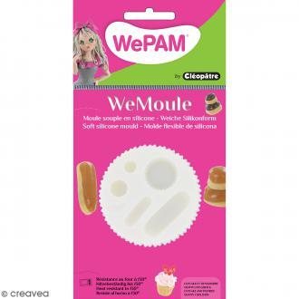Moule silicone WePam Cupcake et viennoiseries en 3D