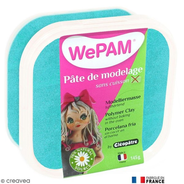 Porcelaine froide à modeler WePAM Bleu turquoise 145 g - Photo n°1