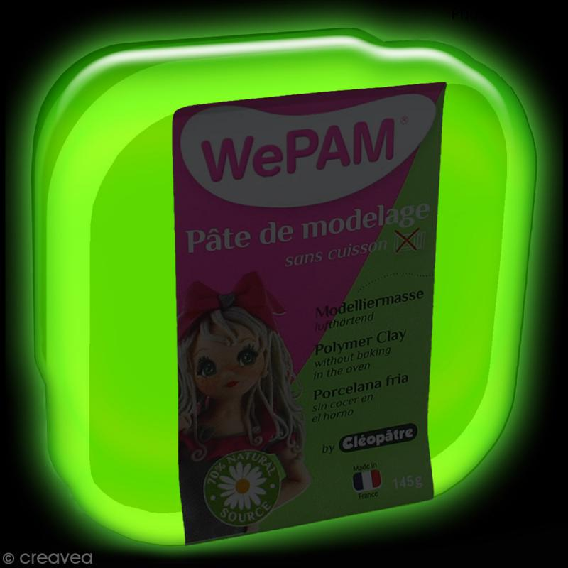 Porcelaine froide à modeler WePAM Phosphorescent 145 g - Photo n°2