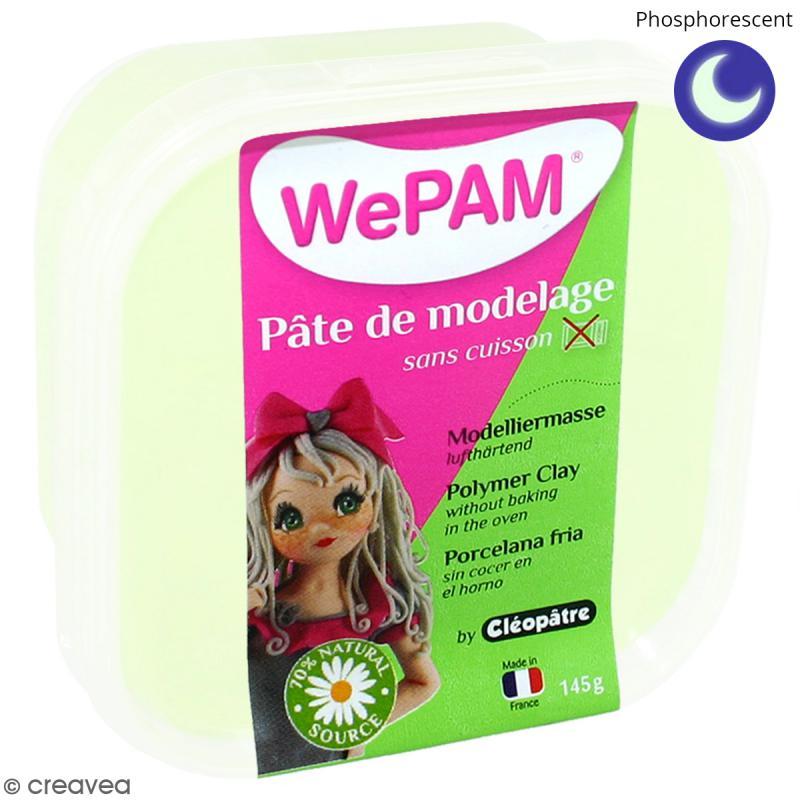 Porcelaine froide à modeler WePAM Phosphorescent 145 g - Photo n°1