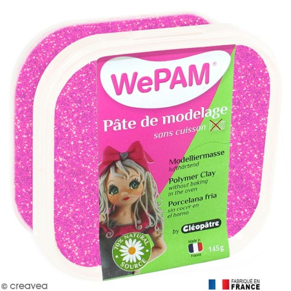 Porcelaine froide à modeler WePAM Rose Néon 145 g - Photo n°1