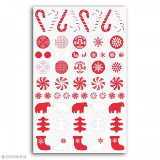 Stickers epoxy Toga - Noël Nordique - 58 pcs
