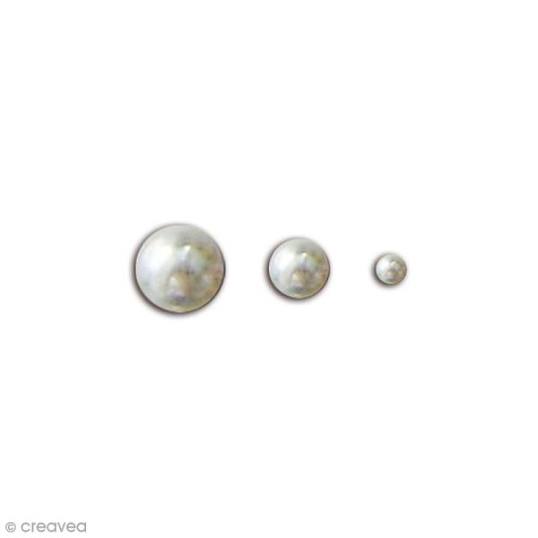 Perles adhésives - Argentées - 50 pcs - Photo n°1