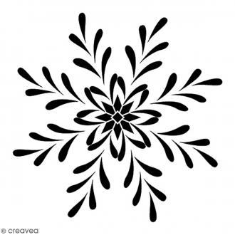 Tampon Bois Artemio - Flocon - 4,5 x 4,5 cm