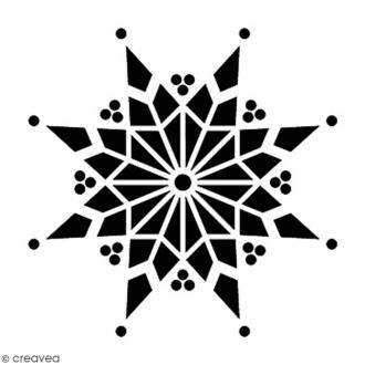 Tampon Bois Artemio - Flocon - 3 x 3 cm