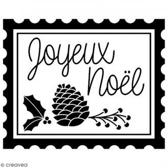 Tampon Bois Artemio - Timbre Joyeux Noël - 4,8 x 3,7 cm