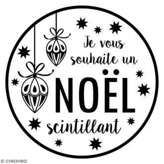 Tampon Bois Artemio - Noël Scintillant - 7,5 x 7,5 cm